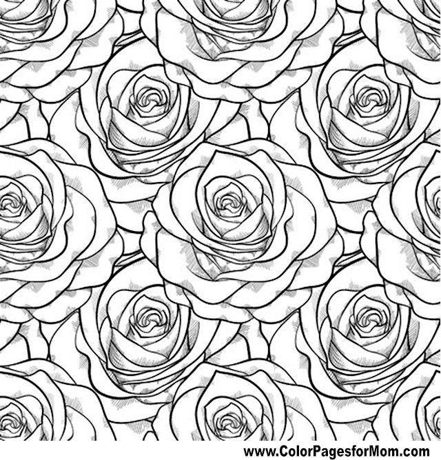 640x667 Floral Coloring Pages
