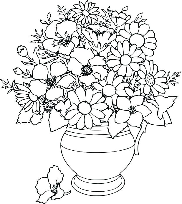 618x692 Flowers Coloring Pages Free Printable Free Printable Flower
