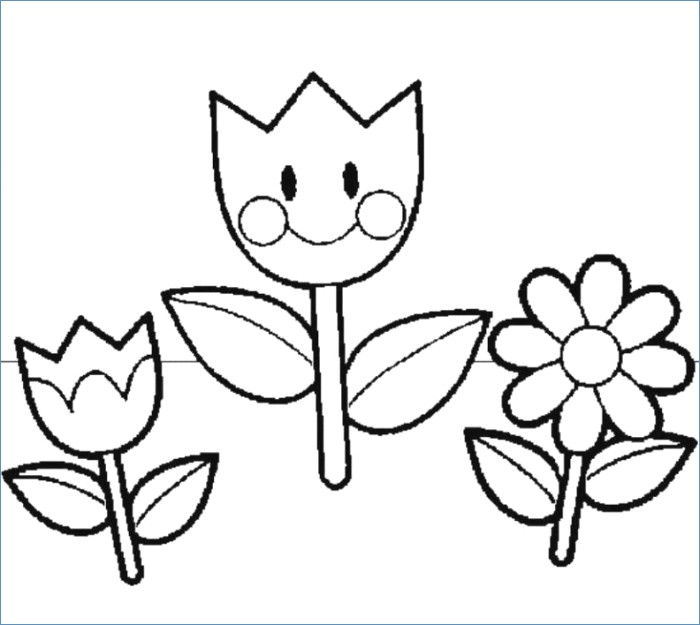 700x625 Printable Spring Flower Coloring Pages