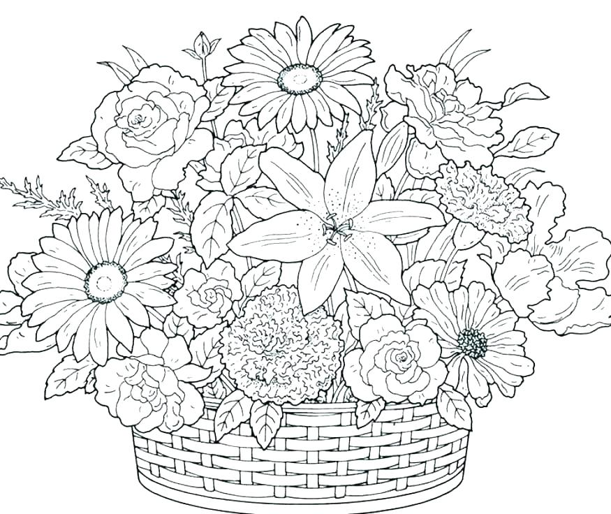 875x736 Spring Printable Coloring Pages Flowers Coloring Pages Printable