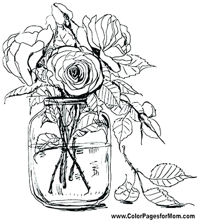 640x712 Cute Flower Coloring Pages Inspirational Floral Coloring Pages