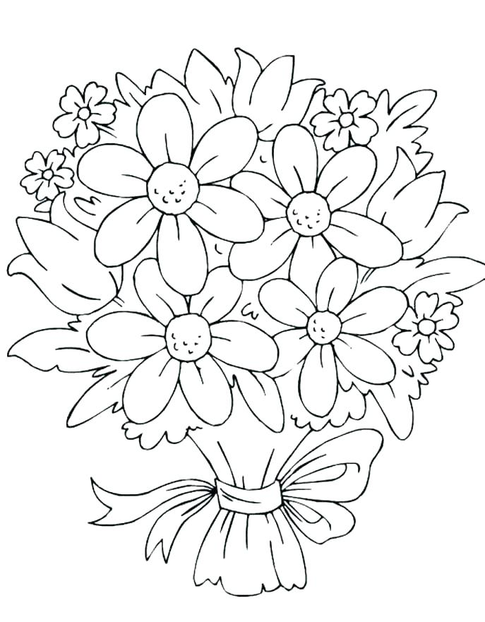 687x881 Easy Flower Coloring Pages Easy Flower Coloring Pages Easy Flower