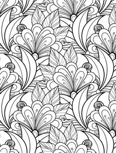 236x311 Free Floral Printable Coloring Page From Adult