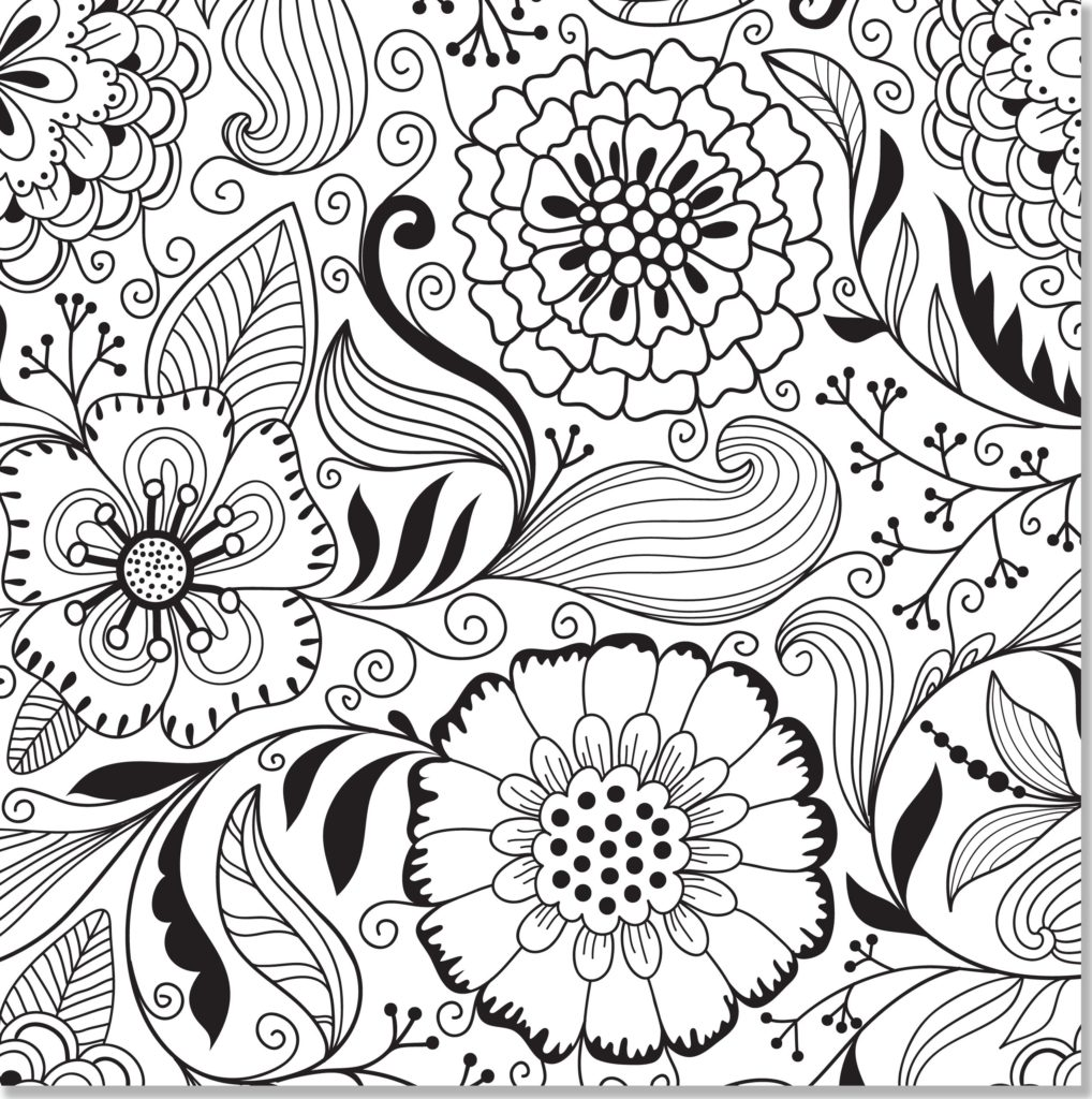 Floral Coloring Pages For Adults at GetDrawings.com | Free ...