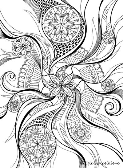 400x545 Floral Mandala Coloring Page Coloring Pages