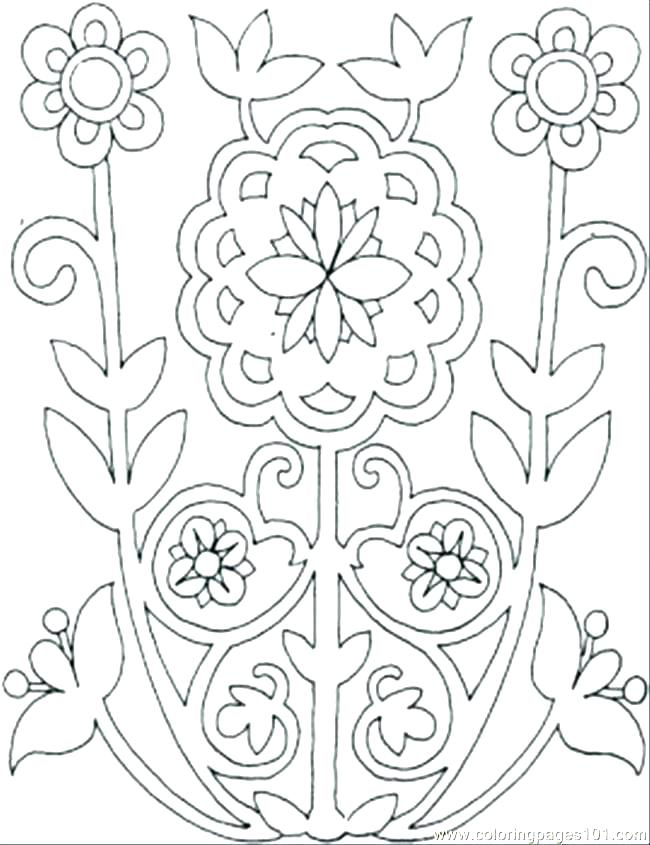 650x845 Flower Design Coloring Pages Pattern Color Pages Swirl Pattern