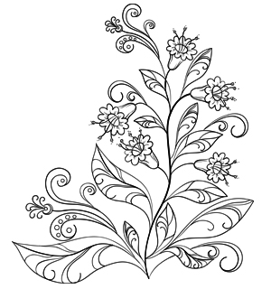 300x320 Amazingly Exquisite Free Printable Coloring Pages Of Flowers