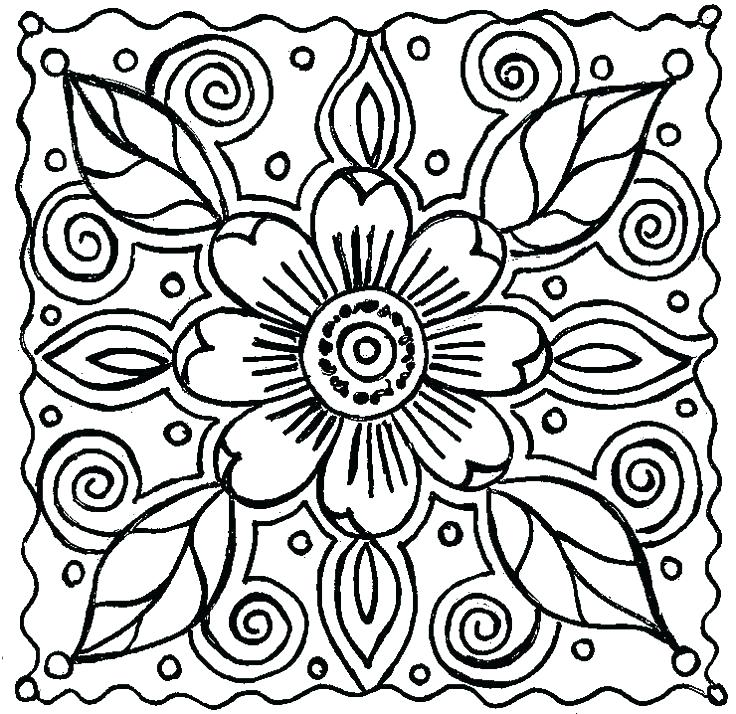 736x714 Free Printable Flower Coloring Pages Cozy Design Adult Flower