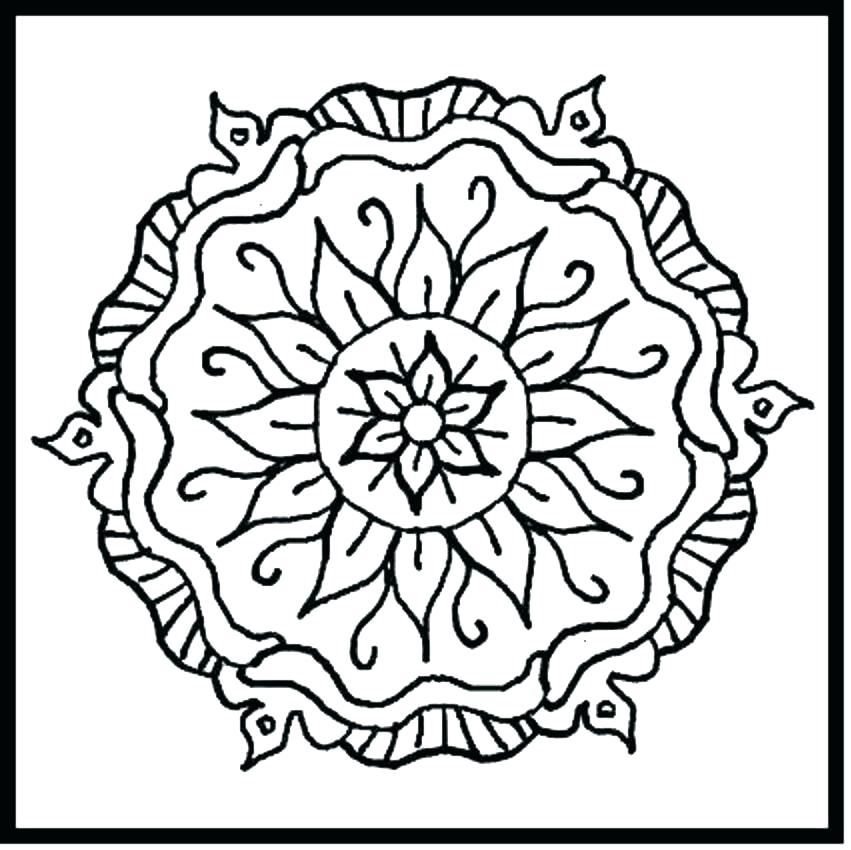 851x850 Abstract Design Coloring Pages