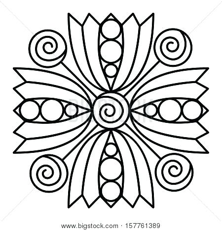 450x470 Awesome Simple Mandala Coloring Pages Or Simple Mandala Flower