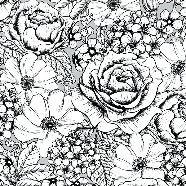 600x600 Cool Pattern Coloring Pages Flower Pattern Coloring Pages
