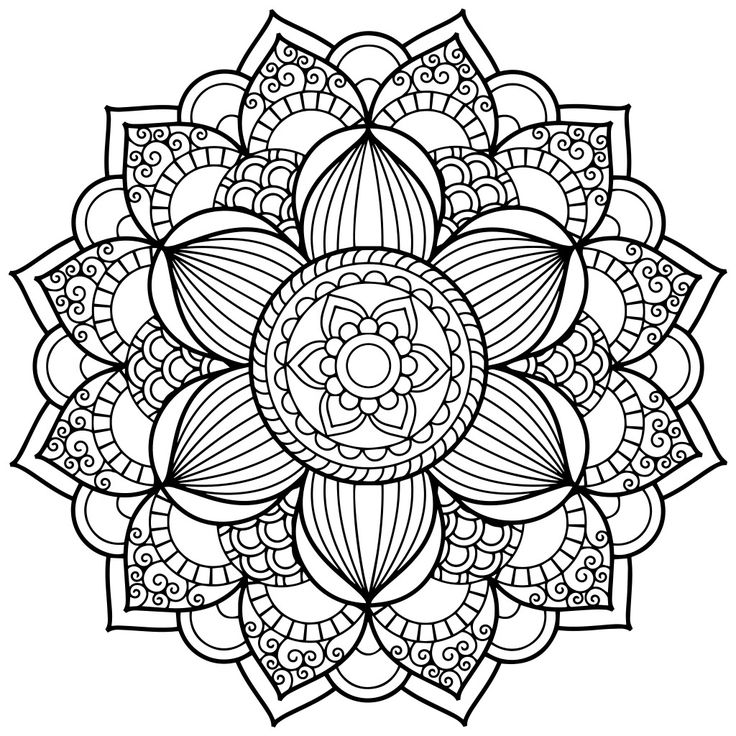 Floral Mandala Coloring Pages