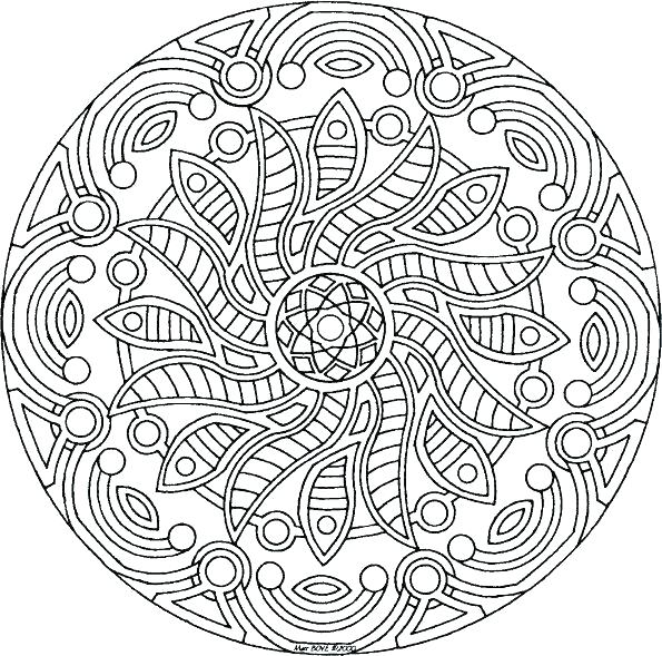 595x589 Flower Mandala Coloring Pages Floral Mandala Coloring Page Blank