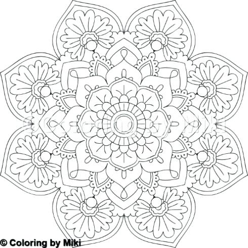 490x490 Flower Mandala Coloring Pages Online Mandala Coloring Pages