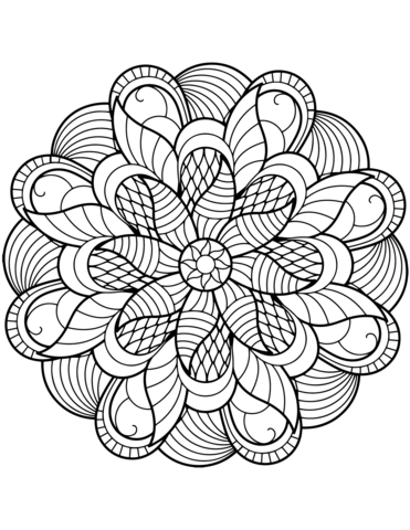 371x480 Flower Mandala Coloring Pages Page Throughout Idea