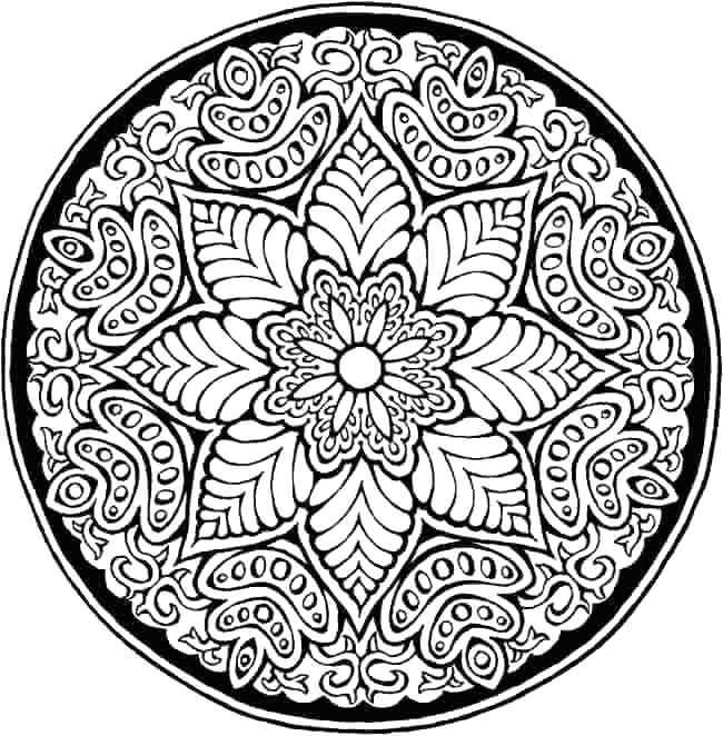 650x662 Flower Mandalas Coloring Book