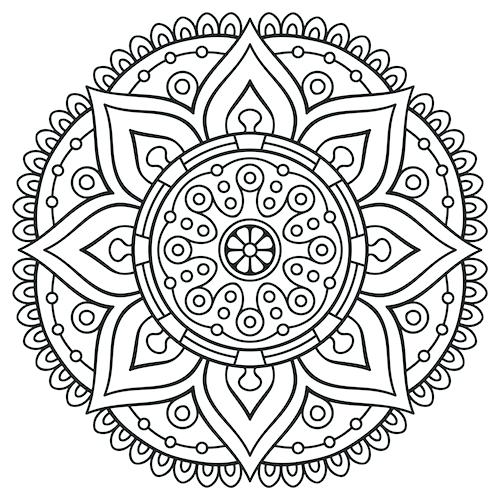 500x500 Fresh Mandala Coloring Pages For Adults For Floral Mandala