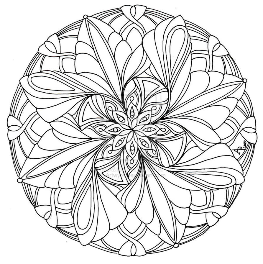 892x895 Mandala Coloring Pages