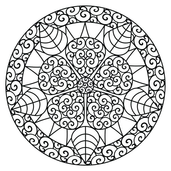 600x600 Mandela Coloring Pages Floral Mandala Coloring Pages Mandala