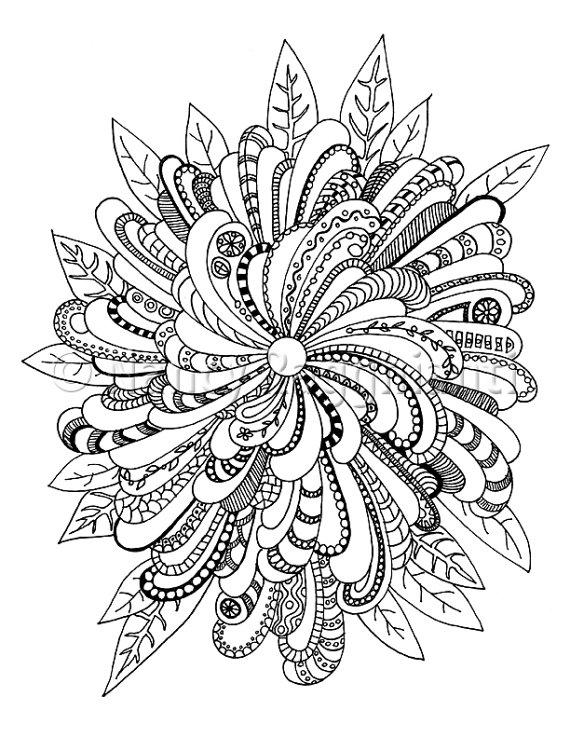 570x738 Printable Coloring Page, Digital Download