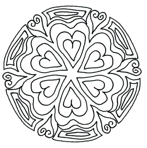 480x482 Surprising Flower Mandala Coloring Pages Free Printable Abstract