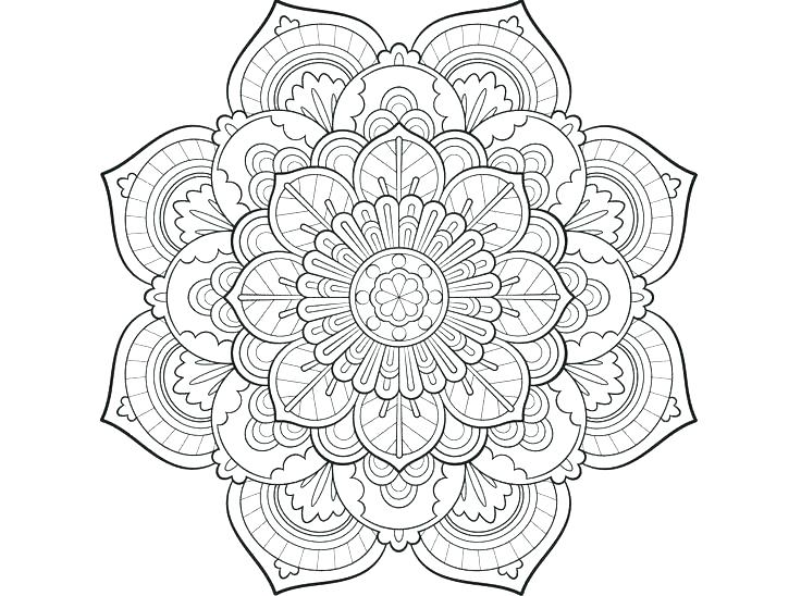 736x548 Simple Mandala Coloring Pages
