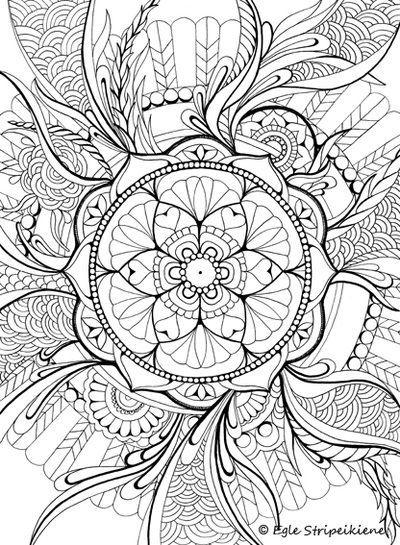 400x545 Floral Mandala Coloring Page Mandalas Mandalas