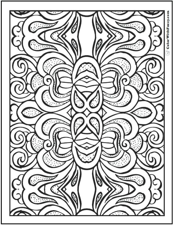 590x762 Cool Pattern Coloring Pages Floral Design Coloring Pages Free