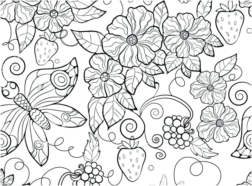 827x609 Floral Pattern Coloring Pages Simple Coloring Pages Flower