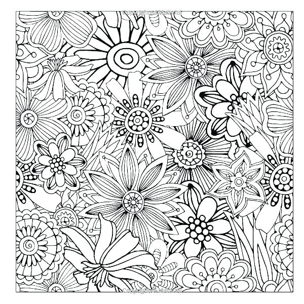 600x600 Flower Design Coloring Pages Lovely Flower Coloring Pages