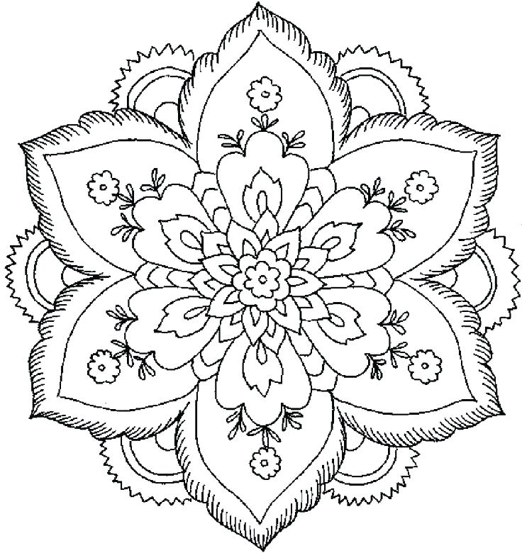 736x780 Flower Pattern Coloring Pages Amazing Flower Pattern Coloring