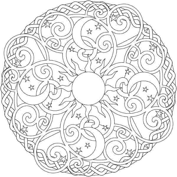 600x600 Geometric Pattern Coloring Pages Geometric Pattern Coloring Pages