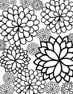 236x305 I Just Love Pretty Floral Coloring Sheets