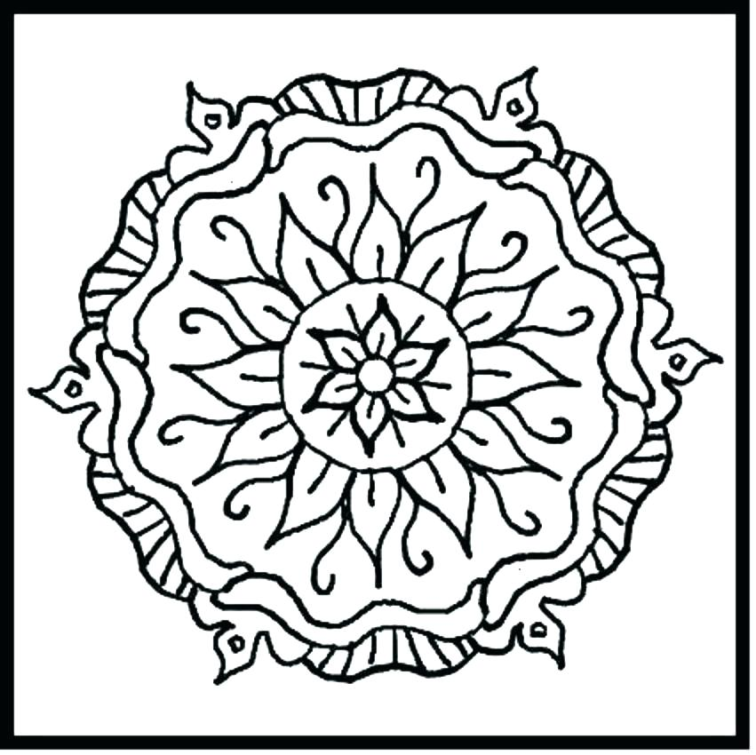 851x850 Pattern Coloring Pages Seashore Coloring Page Ocean Flower Pattern