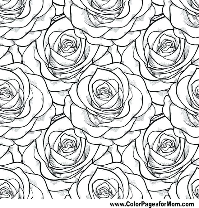640x667 Advanced Flower Coloring Pages