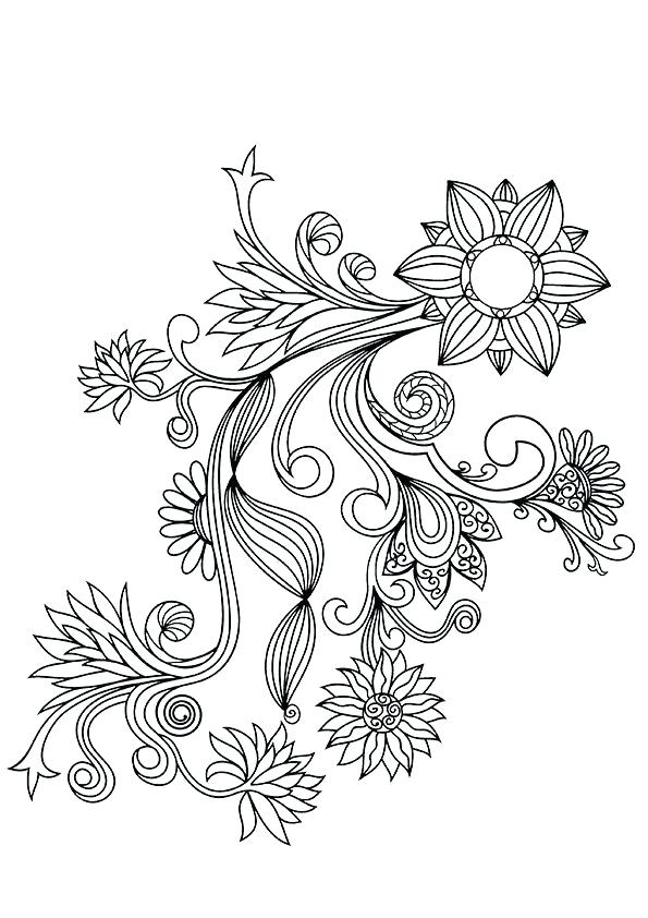 595x842 Flower Design Coloring Pages