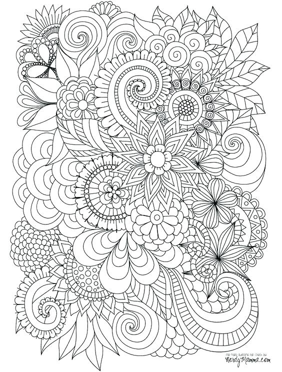 564x744 Amazing Detailed Flower Coloring Pages Or Detailed Flower Coloring