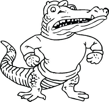 450x422 Florida Gators Coloring Pages Gator Coloring Pages Florida Gator