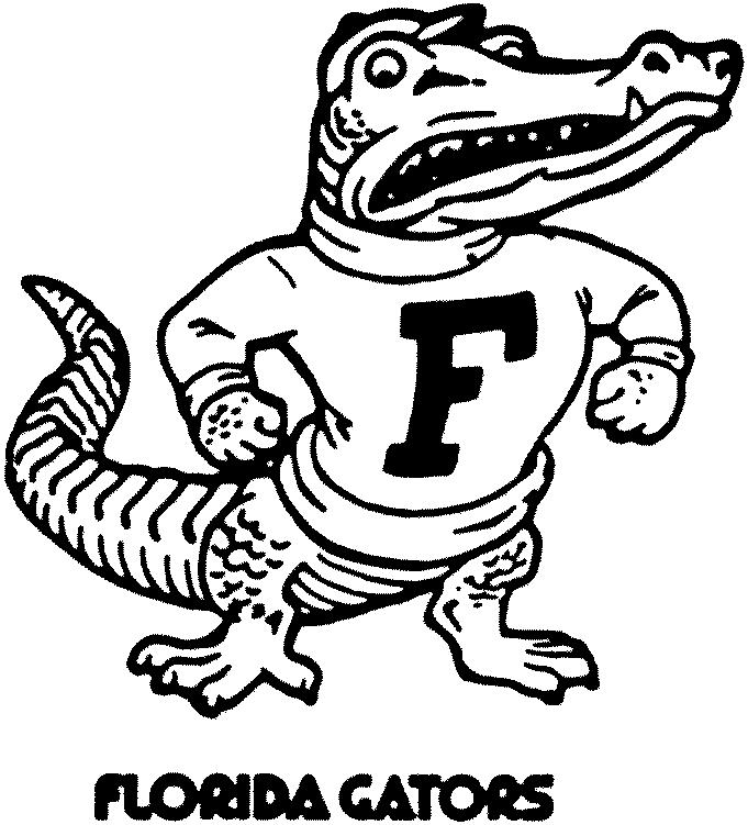 681x751 Gator Coloring Pages