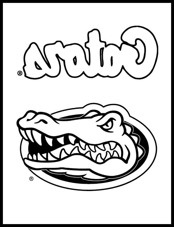 600x782 The Best University Of Florida Gators Coloring Pages