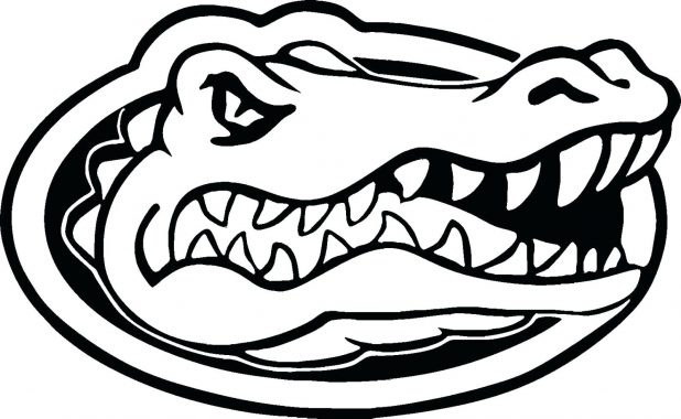 618x380 Coloring Florida Gator Logo Coloring Pages