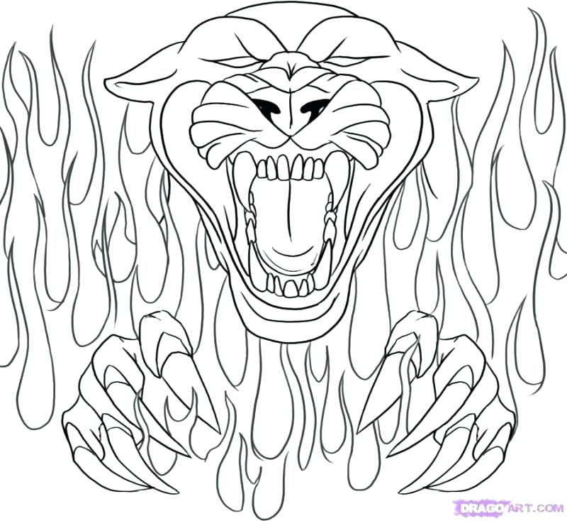 800x734 Panther Coloring Page Click The Panther Coloring Pages Florida