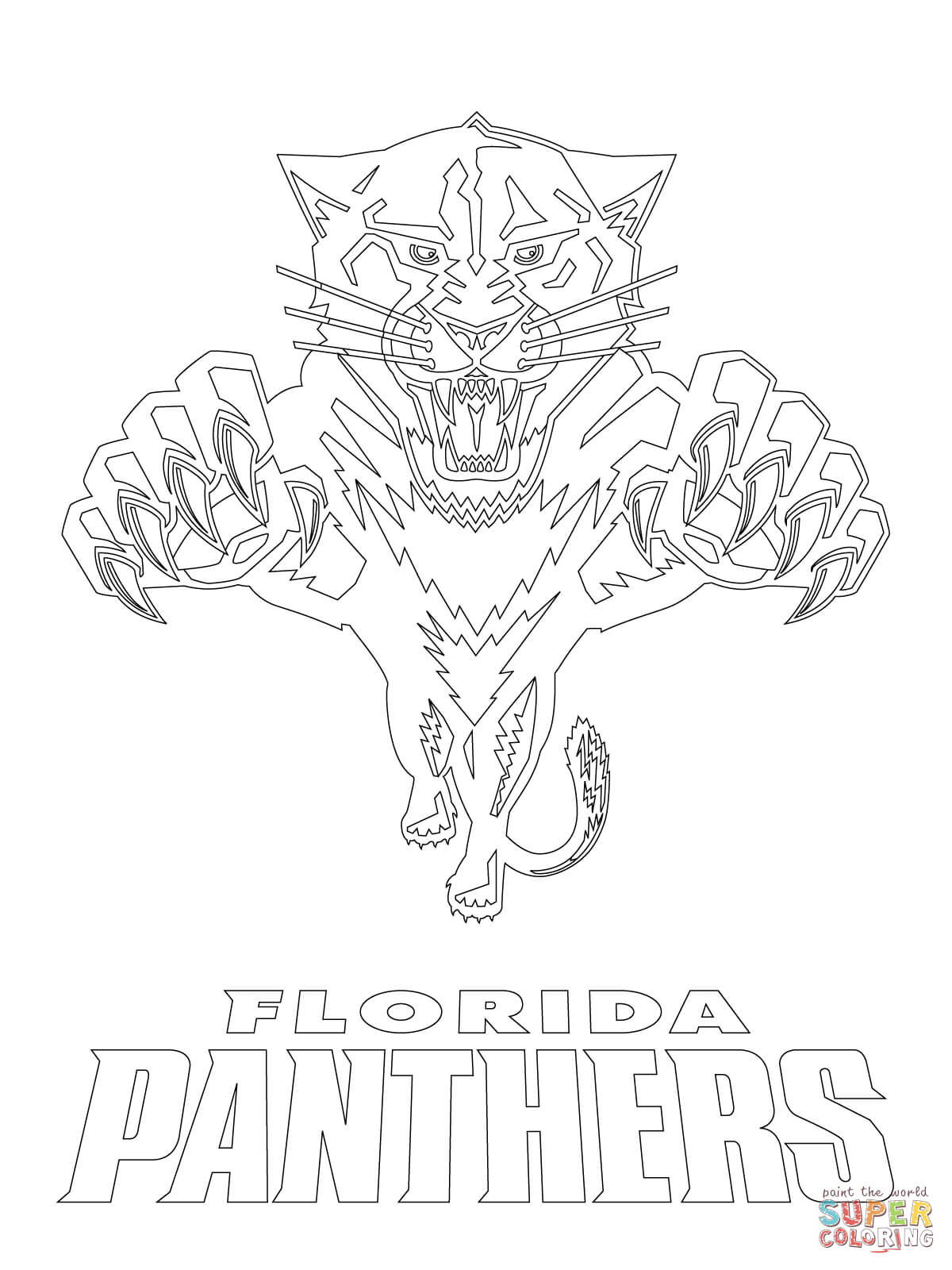 1200x1600 Florida Panthers Logo Coloring Page Free Printable Pages New