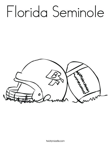 468x605 Florida State Coloring Pages Helmet And Football Coloring Page