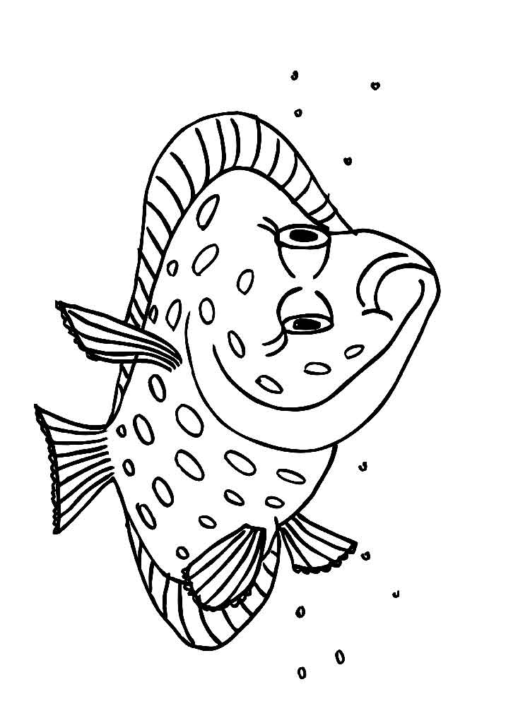750x1000 Flounder Fish Coloring Pages Download And Print Flounder Fish