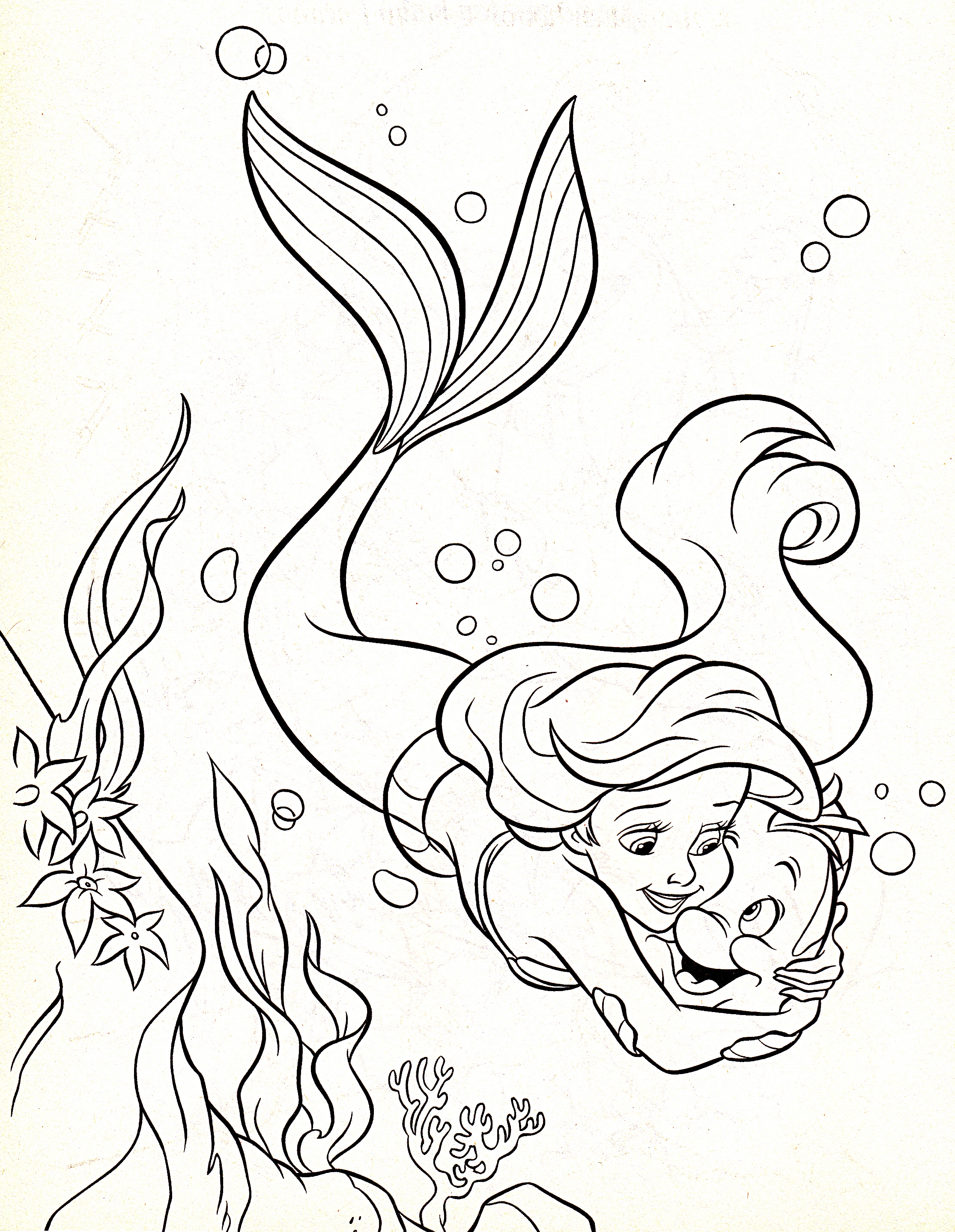 2230x2879 Shocking Flounderg Page Ariel And Colouring Pages Sebastian Fish