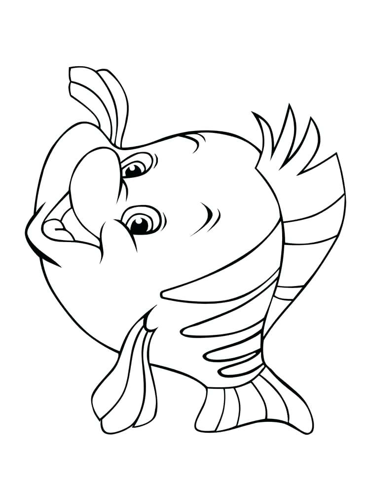 750x1000 Coloring Flounder Coloring Pages Cute Cartoon Printable Gallery