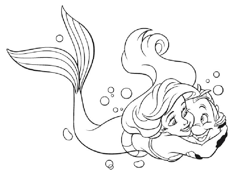 842x595 Cartoon Archives A Page Of A Coloring Pages Kids Little Mermaid