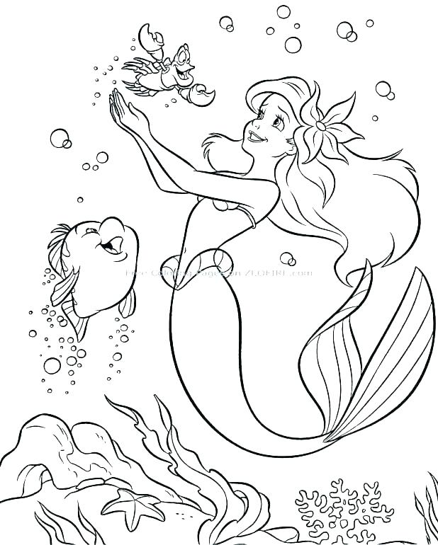 618x770 Flounder Coloring Pages From The Little Mermaid Flounder Coloring