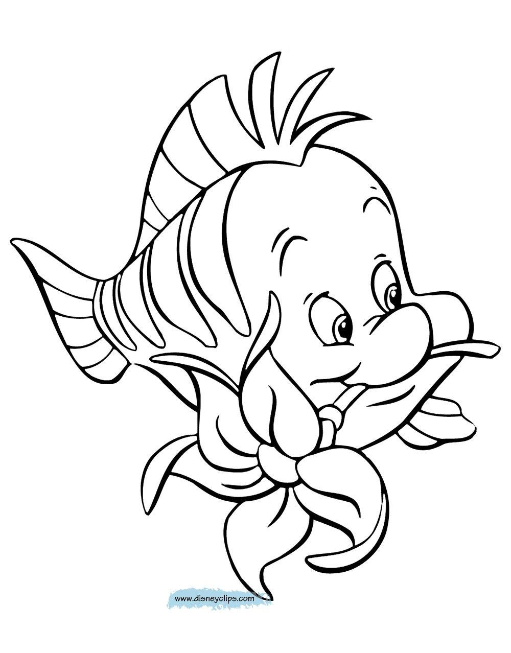1000x1278 Little Mermaid And Flounder Coloring Pages Fresh The Little